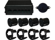 4 Metal Bumper Black Head Parking Sensor Kit